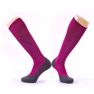 Athletic knee high compression socks